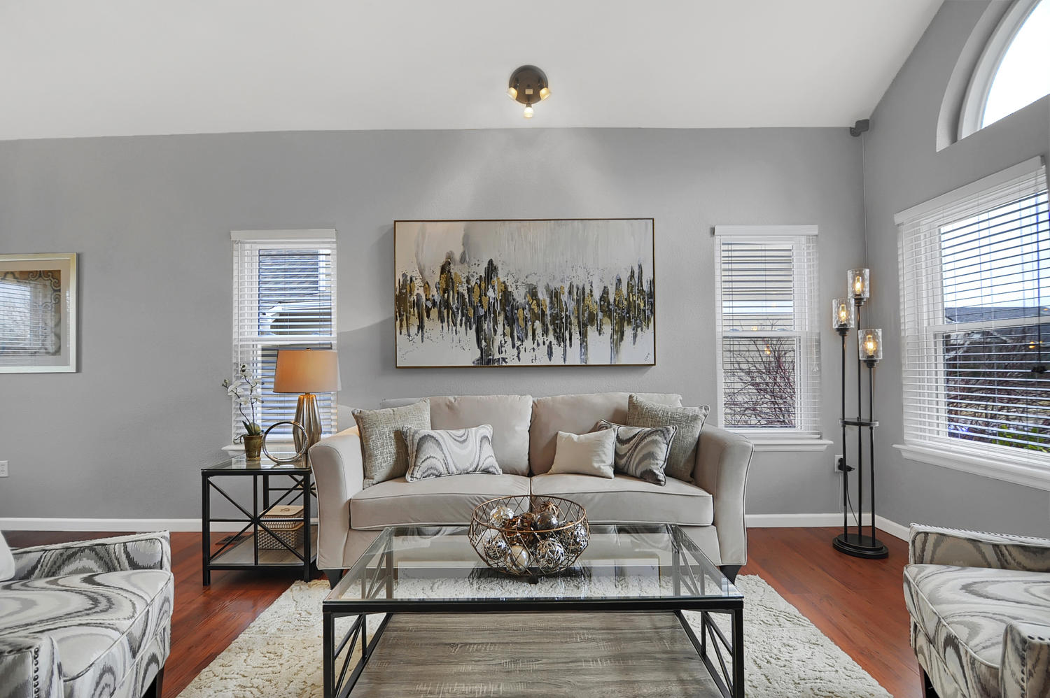 Home Staging - Staged Living Room Colorado Springs